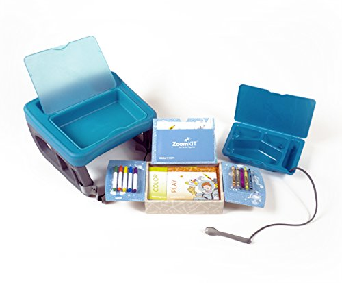 (ZoomKIT Complete Turquoise Travel Table and Activity System)