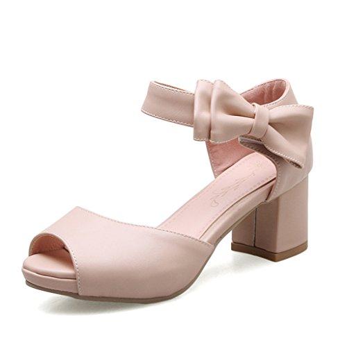 Single taille Chaussures female 36 tempérament Rose long230mm Couleur talons de avec sauvage des rugueuses shoes Bleu Shoes sandales d'été hauts 1aWraS