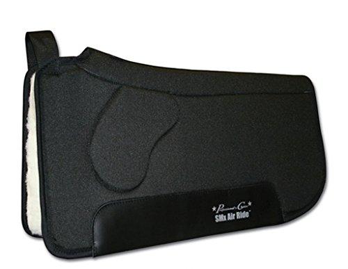 Air Ride Western Saddle Pad (Professionals Choice 30X33 Equine Smx Air-Ride Orthosport Saddle Pad (Black))
