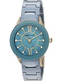 Women's AK/2388BLGB Swarovski Crystal Accented Gold-Tone and Blue Ceramic Bracelet Watch