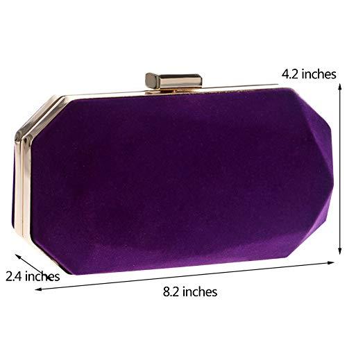 Frizioni Viola Spalla Pochette Partito Donna Sera Cerimonia Borsa Eleganti Portafoglio Sposa Purple Borsetta zwBPHq