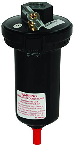 Dixon X02-04MB Wilkerson Automatic Drain 1/2'' Auto Drain with 5 oz. Metal Bowl, Metal/Plastic by Dixon