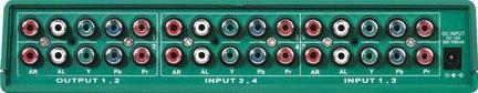 4x2 4:2 Component RCA Video Audio Matrix Switch Switcher Splitter Black SB-5470 ()