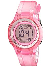 Armitron Sport Women's 45/7051PNK Digital Light Pink Clear Jelly Strap Watch