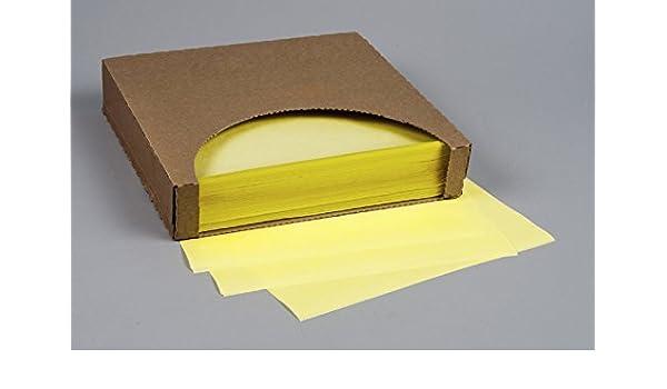"""1,000 Sheets 12/"""" x 12/"""" Yellow Heavy Duty Sandwich Paper Wraps"""