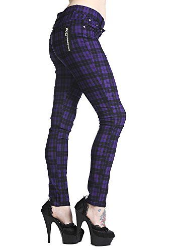 Banned-Purple-Check-Skinny-Jeans