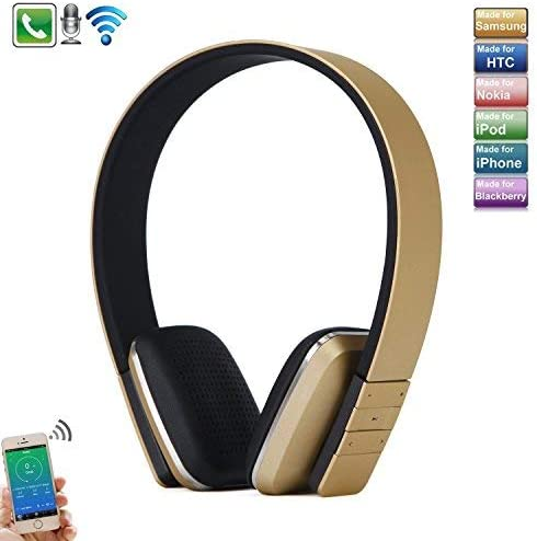Sports Headset Foldable Ear Waterproof Sweatproof Bone Conduction Headphones Smart Full Touch Wireless Bluetooth Earphone with High Sound Quality Stereo Pink Microphone Handsfree Call