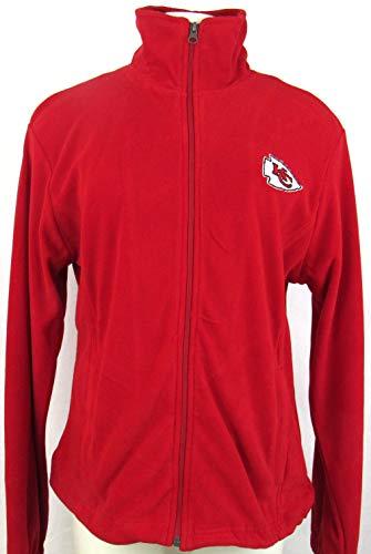 g-iii Kansas City Chiefs Womens Medium Full Zip刺繍フリースジャケットakac 12 M