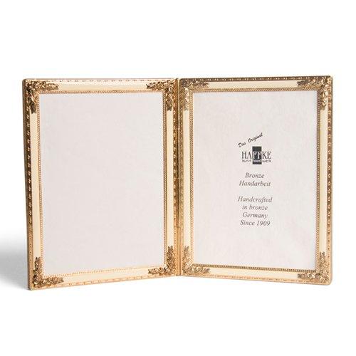 Enameled Bronze - Bronze Beige Enameled Double Frame Home Garden Living Gifts