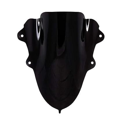 Autonity Bolt Double Bubble Visor for Yamaha R15 V3 (Black)