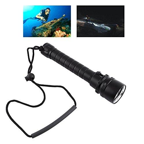 Yosoo 8000LM Underwater 100m 3 X T6 LED Buceo Linterna Buceo Antorcha Impermeable con Correa De Mano(30W)