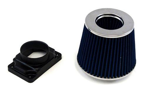 95-99 Mitsubishi Eclipse Turbo GSX Blue Air Filter Kit + Mass Air Flow Sensor Adapter (97 98 99 Stock Eclipse)