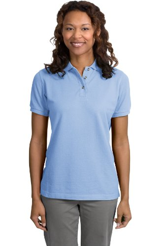 Port Authority Ladies Pique Knit Sport Shirt, 4XL, Light Blue