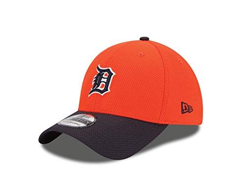 MLB Detroit Tigers 2Tone Diamond Era 39Thirty Flex Fit Cap, Orange, Medium/Large ()