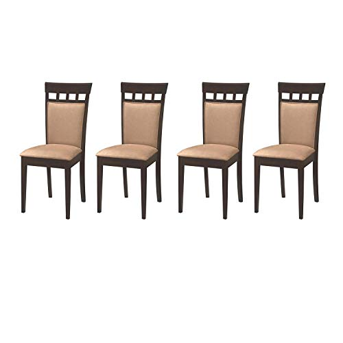Coaster Home Furnishings Gabriel Wheat Back Side Dining Room Chairs (4 Pack) ()