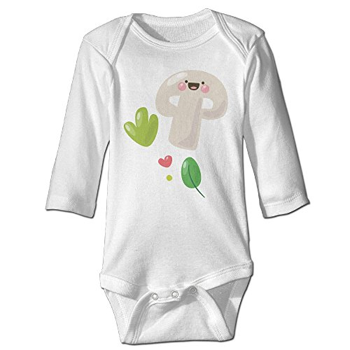 Baby Long Sleeve Outfit, Mushroom Newborn Infant Printed Climbing Clothes Rompers