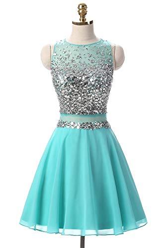 Sexy Jewel Rhinestone Pageant Homecoming Prom Dresses Chiffon Mini