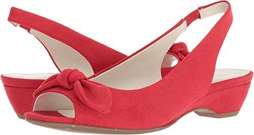 Anne Klein Women's Hazen Medium Red Fabric 8.5 M US