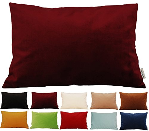 TangDepot Solid Velvet Throw Pillow Cover/Euro Sham/Cushion Sham, Super Luxury Soft Pillow Cases, Many Color & Size options - (12