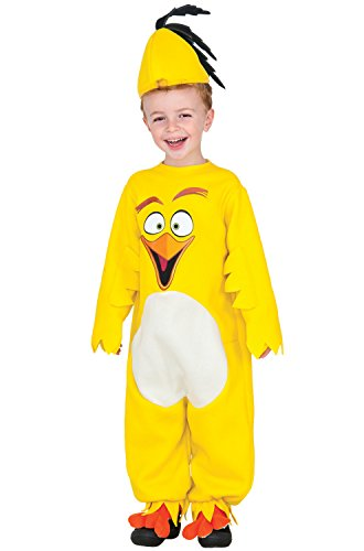 Rubie's Costume Angry Birds Movie EZ-On Romper Chuck Costume, 2T (Angry Birds Yellow Bird Infant Costume)
