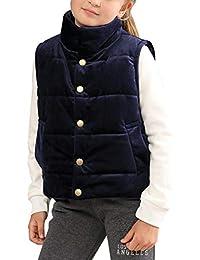Liangfeng Kids Fleece Jacket Vest - Sleeveless Coat Warm Outerwear Down Vest