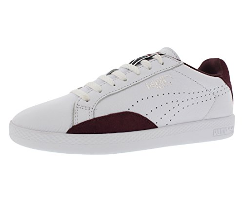 - PUMA Women's Match LO Basic Sports WN's Tennis Shoe, White/Winetasting, 10 M US