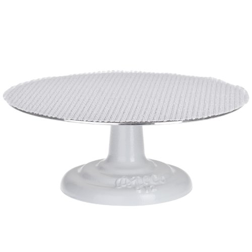 Ateco 612 Revolving Cake Decorating Stand, 12'' Round, Cast Iron Base with 1/8'' Aluminum Top by Ateco