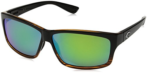 Costa del Mar Cut Polarized Iridium Square Sunglasses, Coconut Fade, 60.6 - Cut Costa