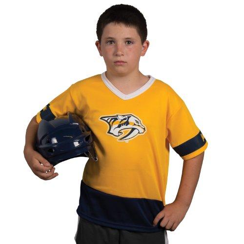 Franklin Sports NHL Nashville Predators Youth Team Uniform Set - Nashville Predators Helmet