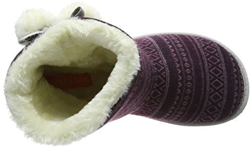 Burgundy Rocket Femme Snowflake Dog Chaussons Multicolore taos SwY6Sq