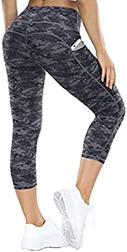 ALONG FIT Yoga Pants for Women Leggings with Side Pockets Workout Running Tights