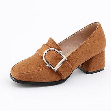 SANMULYH Frauen 'S Schuhe Kunstleder Frühling Herbst Komfort Fersen Ferse Quadratische Spitze Schnalle Für Party & Amp; Abend Kleid Gelb Grau Schwarz