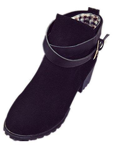 ZARU-Seoras-de-tacn-bajo-las-botas-del-tobillo-de-la-hebilla-de-correa-Martin-botas-nieve-de-las-mujeres-para-el-invierno-cuero-artificial