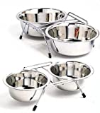 Stainless Steel Double Diner Size: 1 Pint, My Pet Supplies