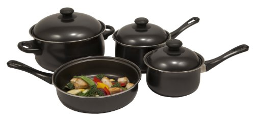 Heuck 32001 7 Piece Non Stick Steel Cookware Set