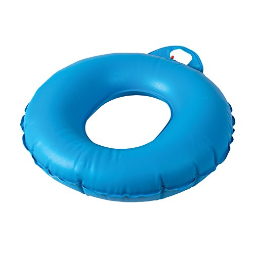 DMI Inflatable Ring Donut Seat Cushion Pillow for Hemorrhoid, Pregnancy, and Tailbone Pain, 16 Inches, Blue