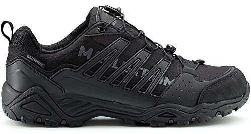 Maelstrom Men's Hiking Boots for Outdoors Backpacking Trekking Hunting - Stylish Comfortable Lightweight Waterproof Boots - 1 Year Manufacturer's Warranty #5151, Black, Waterproof, Speed Lace Lock