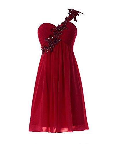 YiYaDawn - Vestido - corte imperio - para mujer borgoña
