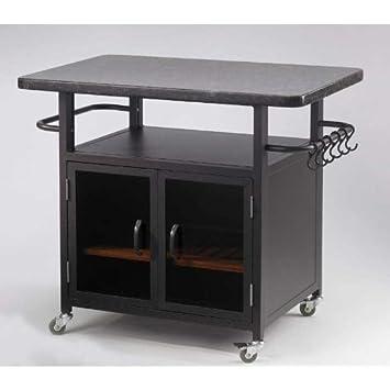 Bistro 36in Cabinet Granite Top And Black Glass
