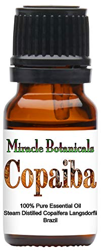 Miracle Botanicals Copaiba Essential Oil - 100% Pure Copaifera Langsdorfii - 10ml or 30ml Sizes - Therapeutic Grade - 10ml