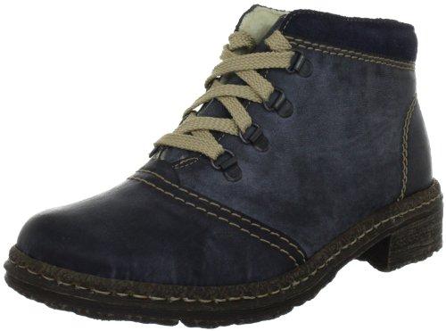 Rieker 54242-14 Damen Kurzschaft Stiefel Blau (atlantic/pazifik / 14)