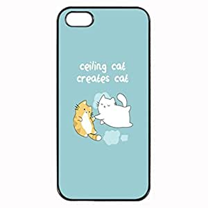 CREATION OF CAT CEILING CAT VS BASEMENT CAT Pattern Image Protective iphone ipod touch4 / iPhone 5 Case Cover Hard Plastic Case For iPhone ipod touch4