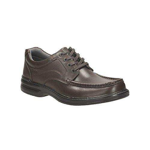 Clarks Détente Habillé Homme Chaussures Keeler Walk En Cuir Marron