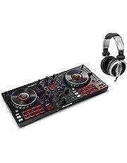 Numark Mixtrack Platinum FX DJ Controller Set (4-deck DJ-controller met jogwheel-displays & effectpeddels incl. DJ-hoofdtelefoon)