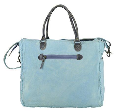Sunsa Shopper bag borsa Vintage donna a tracolla in tela stile militare 42x34x19 cm 1809