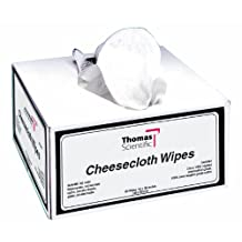 "Thomas 2051 Cotton Cheesecloth Wipe, 18"" Length x 36"" Width (Box of 120)"
