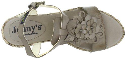 Jonny's John J-12080 - Sandalias de vestir de cuero para mujer Gris