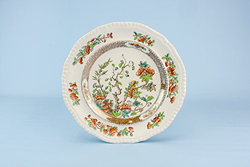6 Antique Beautiful Copeland PLATES Floral Gift Victorian Bone China Large Dining Cheese Dinner Fruit English 1890s LS