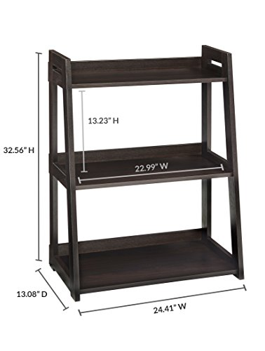 ClosetMaid 3312 No-Tool Assembly Ladder Shelf, Wide 3-Tier, Black Walnut by ClosetMaid (Image #3)