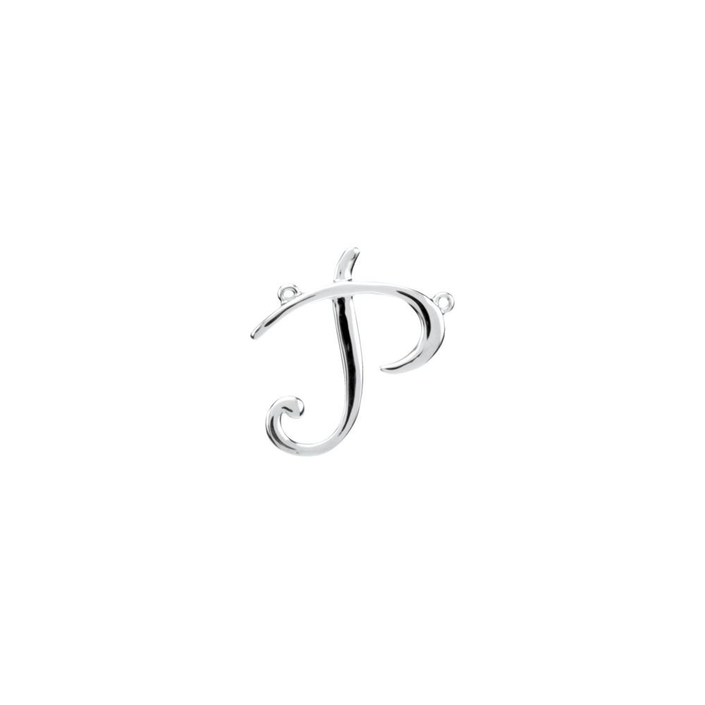DiamondJewelryNY Sterling Silver P Script Initial